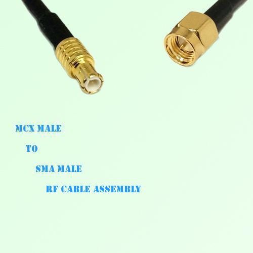 MCX Male to SMA Male RF Cable Assembly