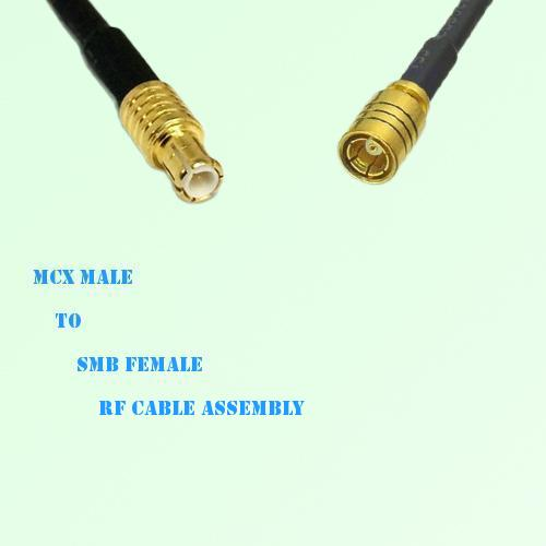 MCX Male to SMB Female RF Cable Assembly