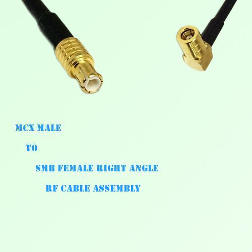 MCX Male to SMB Female Right Angle RF Cable Assembly