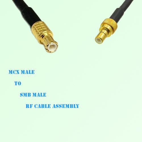 MCX Male to SMB Male RF Cable Assembly