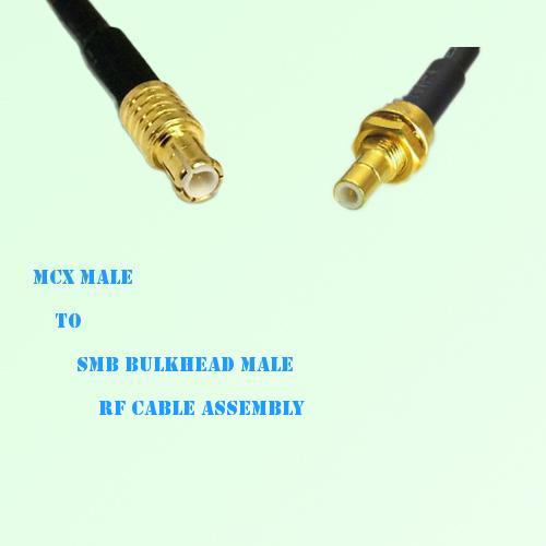 MCX Male to SMB Bulkhead Male RF Cable Assembly