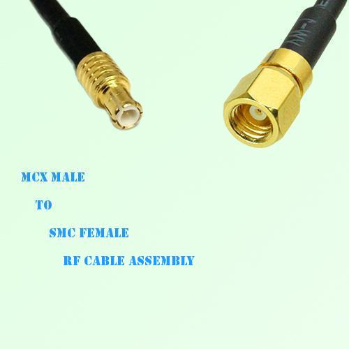 MCX Male to SMC Female RF Cable Assembly