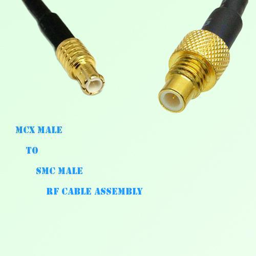 MCX Male to SMC Male RF Cable Assembly