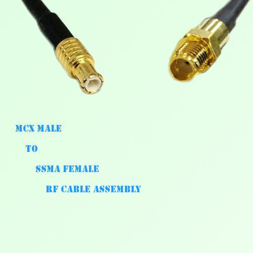 MCX Male to SSMA Female RF Cable Assembly