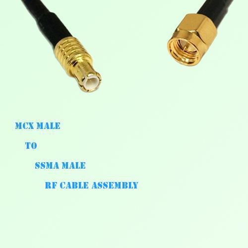 MCX Male to SSMA Male RF Cable Assembly