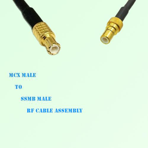 MCX Male to SSMB Male RF Cable Assembly