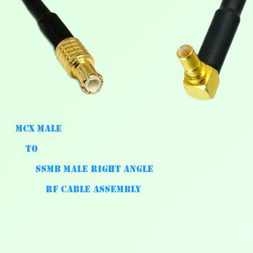 MCX Male to SSMB Male Right Angle RF Cable Assembly