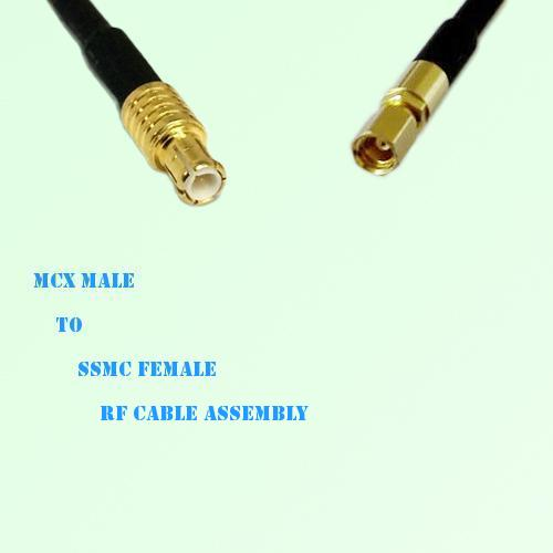 MCX Male to SSMC Female RF Cable Assembly