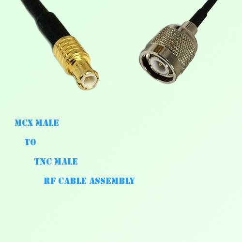 MCX Male to TNC Male RF Cable Assembly