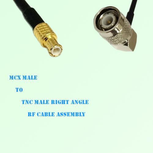 MCX Male to TNC Male Right Angle RF Cable Assembly