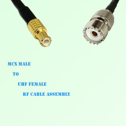 MCX Male to UHF Female RF Cable Assembly