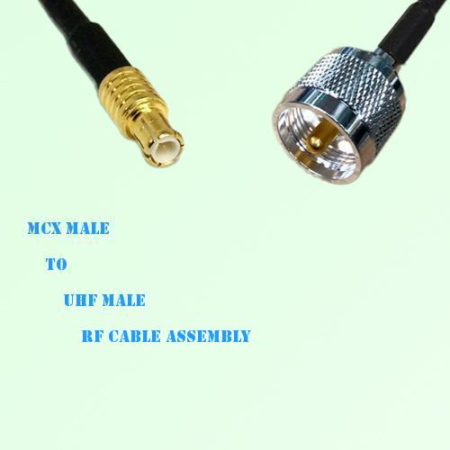 MCX Male to UHF Male RF Cable Assembly