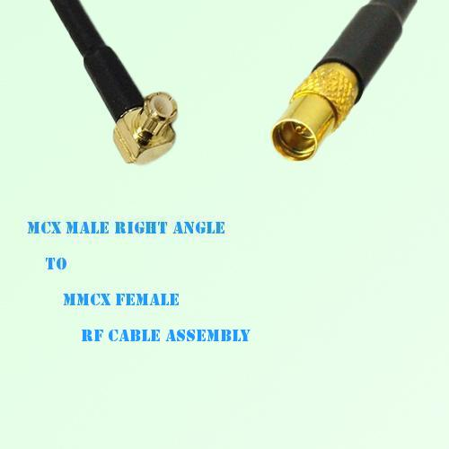 MCX Male Right Angle to MMCX Female RF Cable Assembly