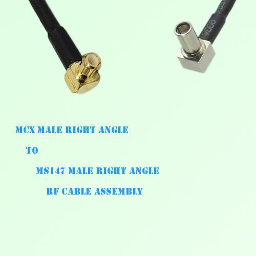MCX Male Right Angle to MS147 Male Right Angle RF Cable Assembly
