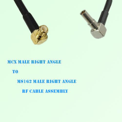 MCX Male Right Angle to MS162 Male Right Angle RF Cable Assembly