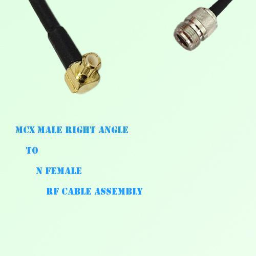 MCX Male Right Angle to N Female RF Cable Assembly