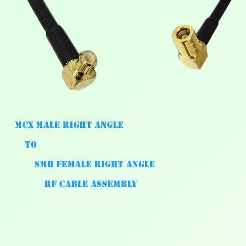 MCX Male Right Angle to SMB Female Right Angle RF Cable Assembly