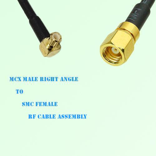 MCX Male Right Angle to SMC Female RF Cable Assembly