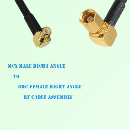 MCX Male Right Angle to SMC Female Right Angle RF Cable Assembly