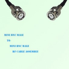 Mini BNC Male to Mini BNC Male RF Cable Assembly