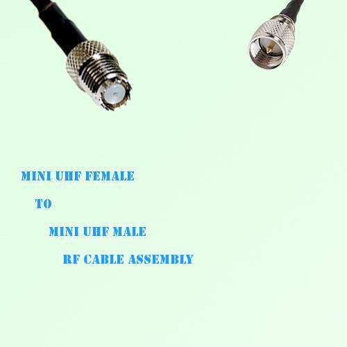 Mini UHF Female to Mini UHF Male RF Cable Assembly