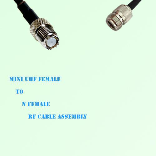 Mini UHF Female to N Female RF Cable Assembly