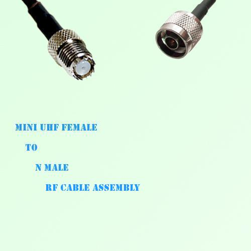 Mini UHF Female to N Male RF Cable Assembly