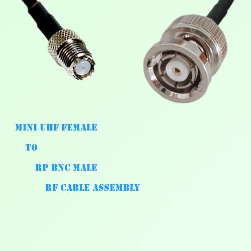 Mini UHF Female to RP BNC Male RF Cable Assembly