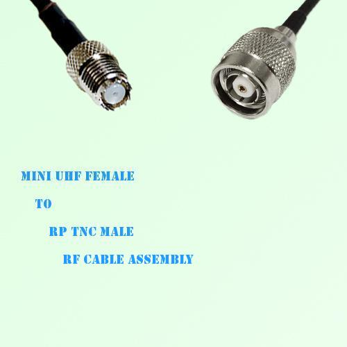 Mini UHF Female to RP TNC Male RF Cable Assembly