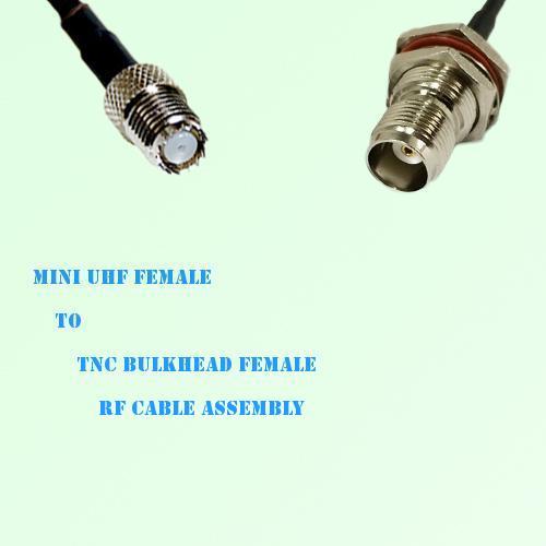 Mini UHF Female to TNC Bulkhead Female RF Cable Assembly