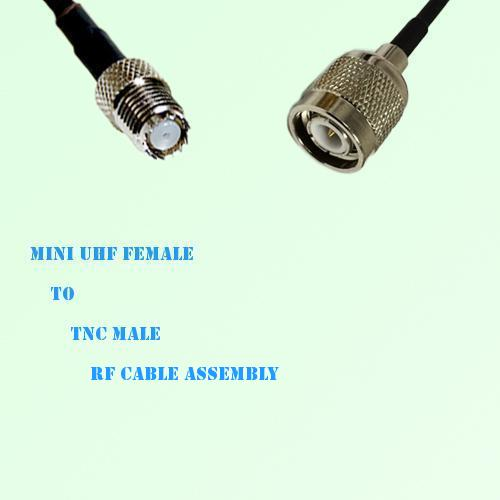 Mini UHF Female to TNC Male RF Cable Assembly