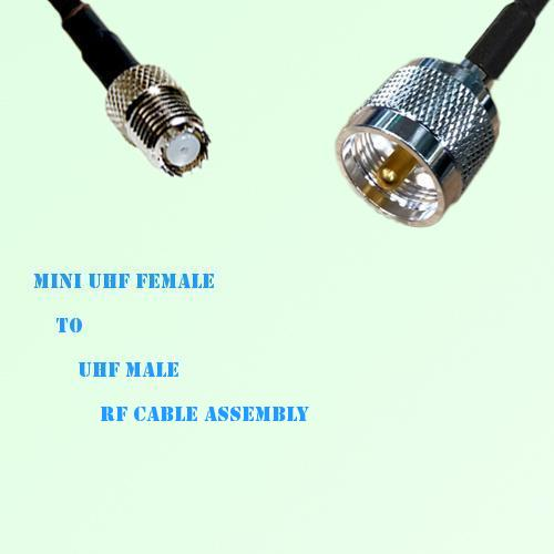 Mini UHF Female to UHF Male RF Cable Assembly