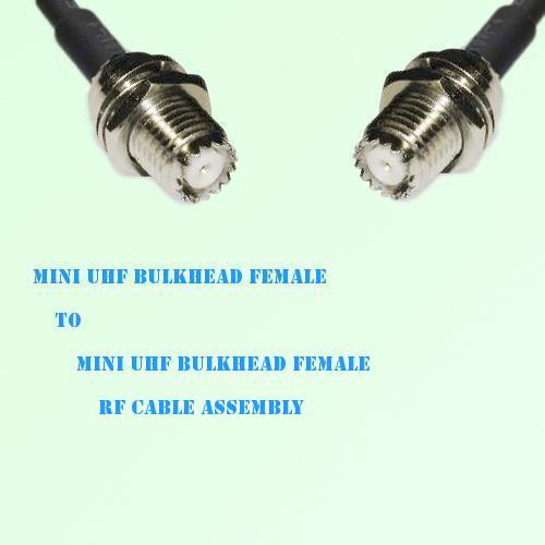 Mini UHF Bulkhead Female to Mini UHF Bulkhead Female RF Cable Assembly