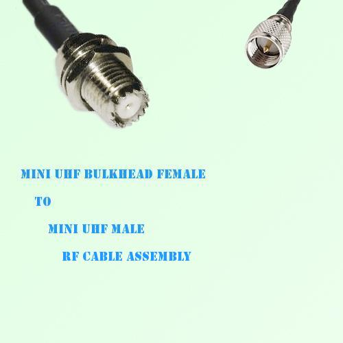 Mini UHF Bulkhead Female to Mini UHF Male RF Cable Assembly