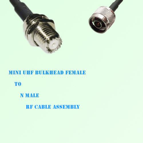 Mini UHF Bulkhead Female to N Male RF Cable Assembly