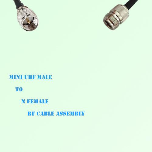 Mini UHF Male to N Female RF Cable Assembly