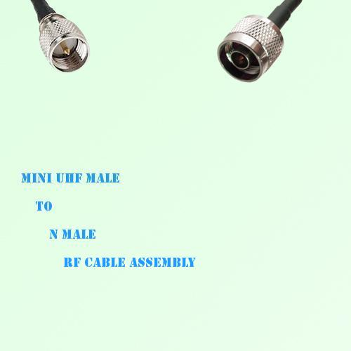 Mini UHF Male to N Male RF Cable Assembly