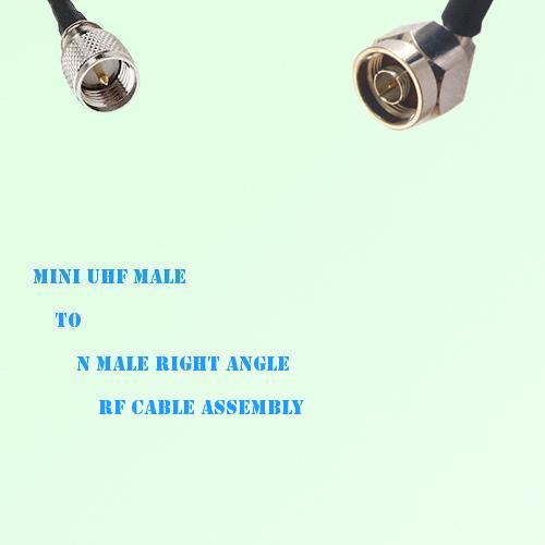 Mini UHF Male to N Male Right Angle RF Cable Assembly