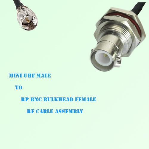 Mini UHF Male to RP BNC Bulkhead Female RF Cable Assembly