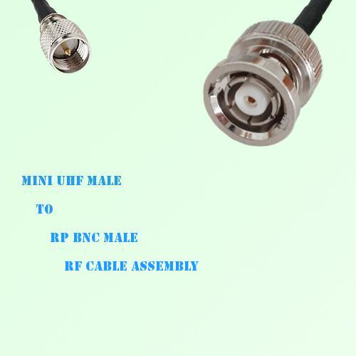 Mini UHF Male to RP BNC Male RF Cable Assembly