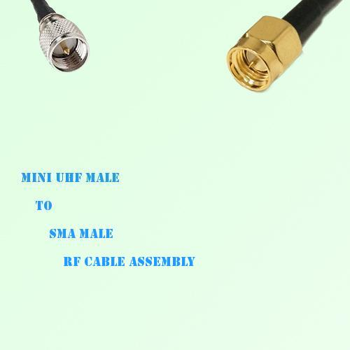 Mini UHF Male to SMA Male RF Cable Assembly