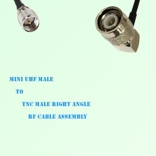 Mini UHF Male to TNC Male Right Angle RF Cable Assembly