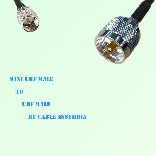 Mini UHF Male to UHF Male RF Cable Assembly