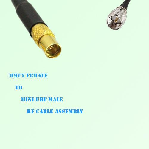 MMCX Female to Mini UHF Male RF Cable Assembly