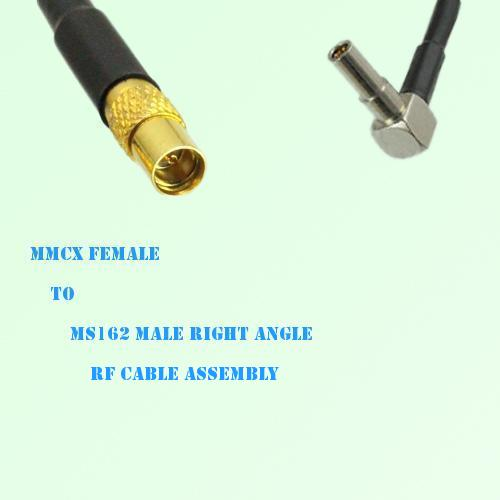 MMCX Female to MS162 Male Right Angle RF Cable Assembly