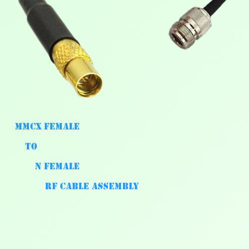 MMCX Female to N Female RF Cable Assembly