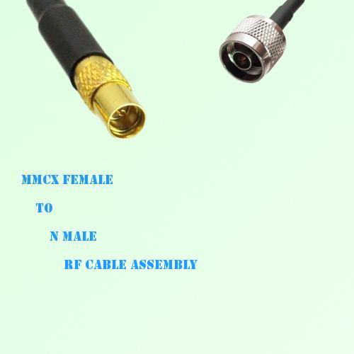 MMCX Female to N Male RF Cable Assembly