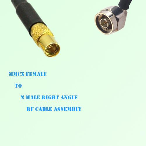 MMCX Female to N Male Right Angle RF Cable Assembly