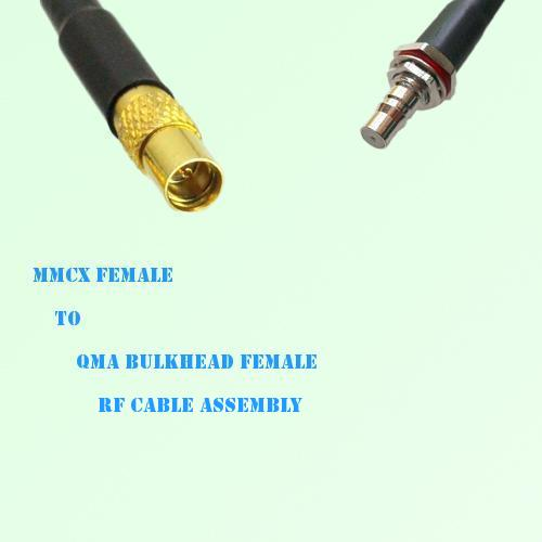 MMCX Female to QMA Bulkhead Female RF Cable Assembly