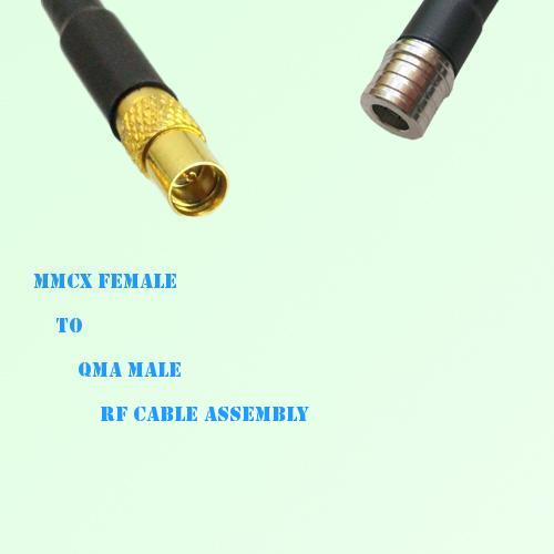 MMCX Female to QMA Male RF Cable Assembly